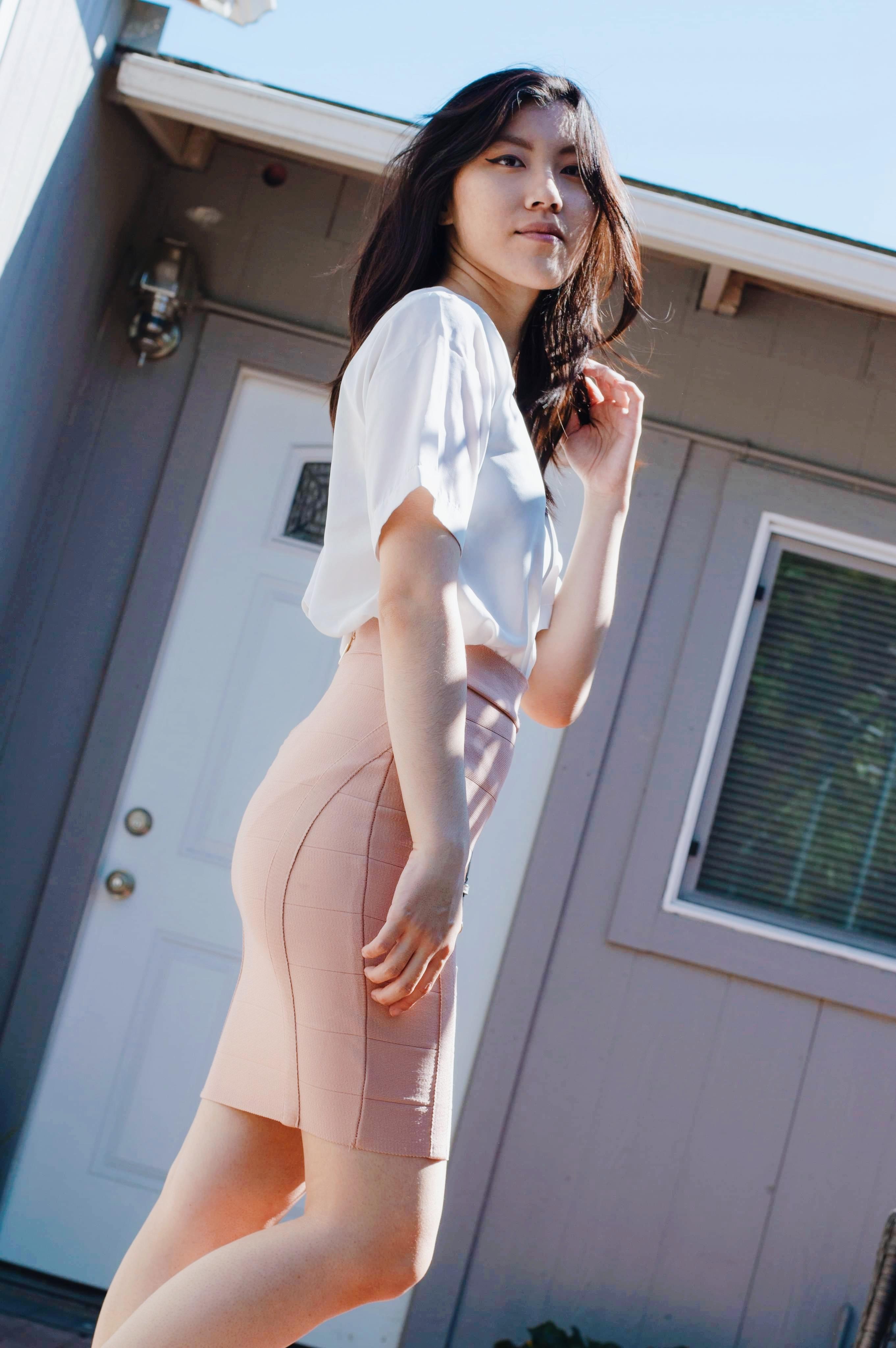 cute pink skirt for summer