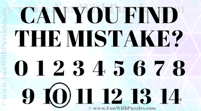 Can you find the mistake? Puzzle Answer