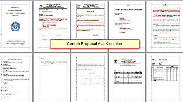 Contoh Proposal Alat Kesenian Jenjang SD/SMP/MTs/SMA/SMK