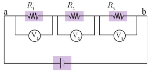 tegangan beda potensial pada rangkaian seri