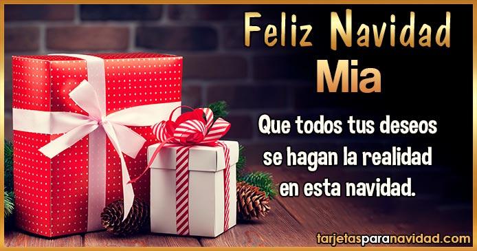 Feliz Navidad Mia