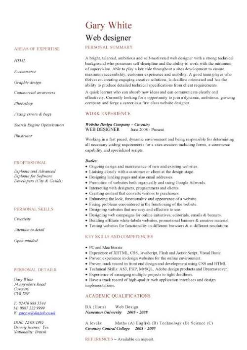 Resume Web Design Examples Pin Graphic Design Resume Template