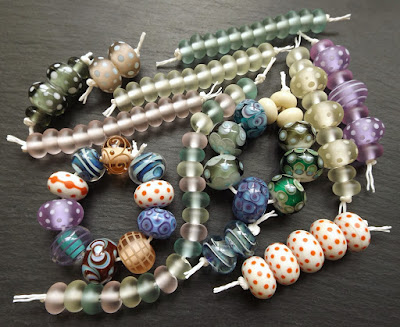 Assorted lampwork glass beads by Laura Sparling