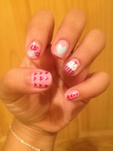 nail designs Dia dos Namorados Nails