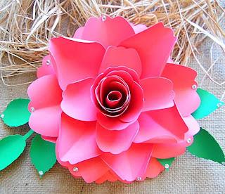 Paper Rose Template 2