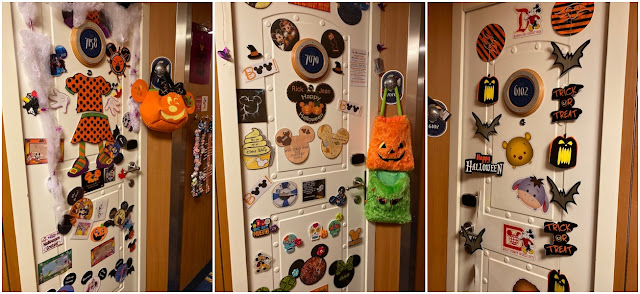 Disney Cruise Halloween stateroom door decorations