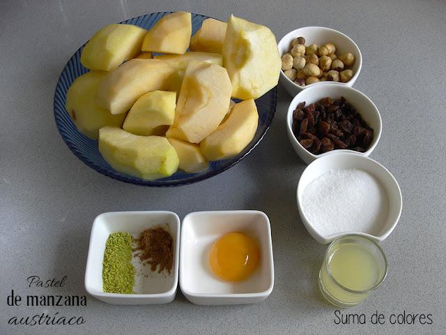 Pastel-manzana-austriaco-Ingredientes-Relleno
