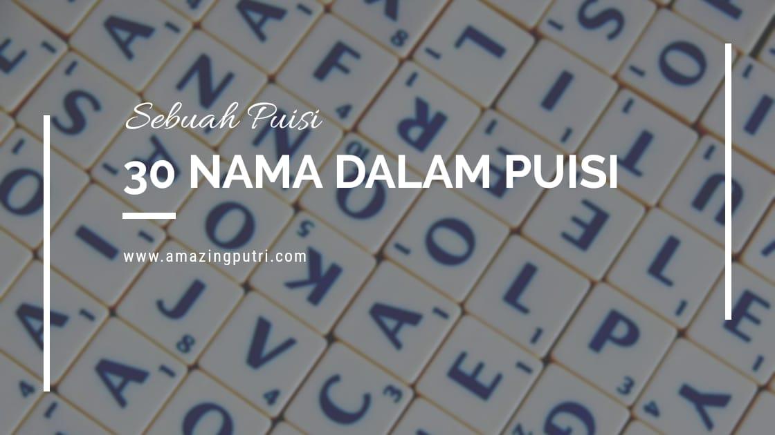 30 Nama dalam Puisi