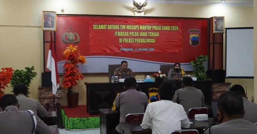 Polres Purbalingga Terima Tim Wasops Mantap Praja Candi 2020 dari Polda Jawa Tengah