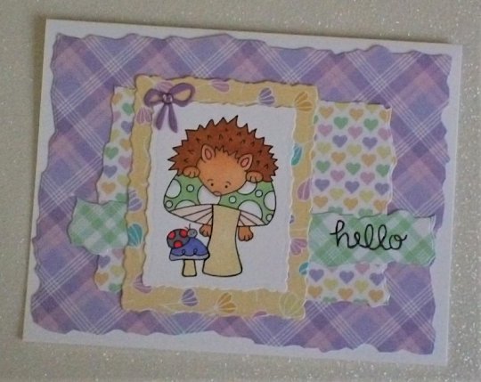 Hello by Becca features Hedgehog Hollow (retired) by Newton's Nook Designs; #newtonsnook, #inkypaws, #cardmaking