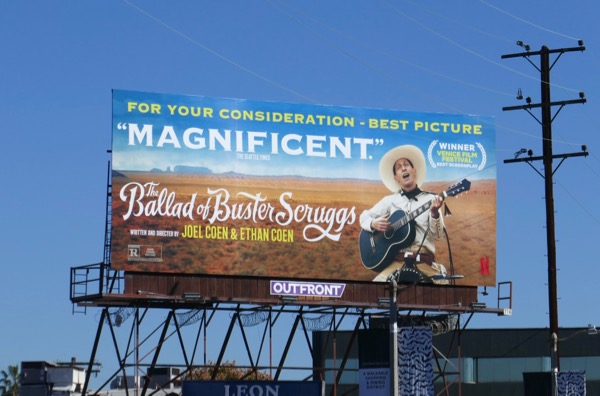 Ballad of Buster Scruggs FYC billboard