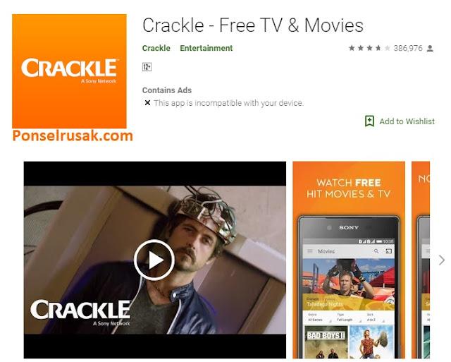 Beberapa aplikasi untuk memutar streaming film.