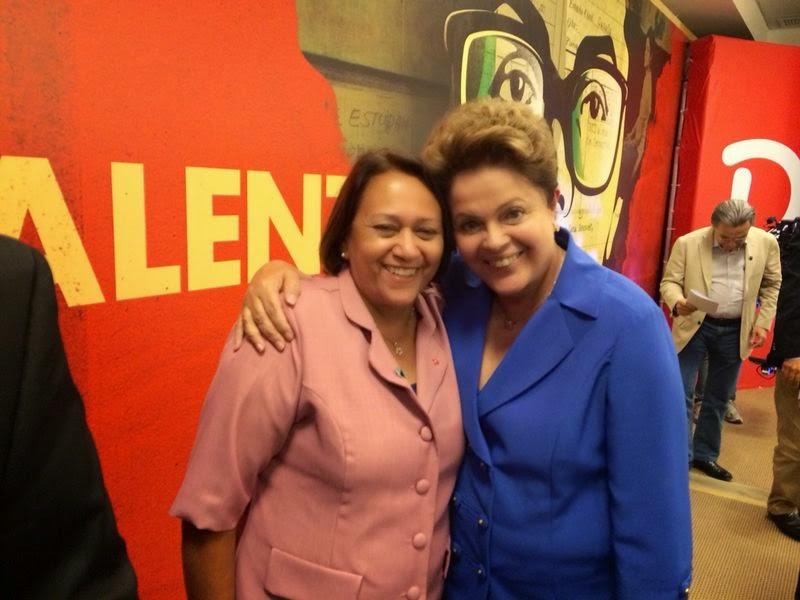 Resultado de imagem para ditado chamar deus e o mundo fátima bezerra e Lula