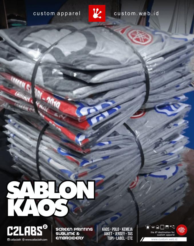Hasil Produksi Sablon Kaos Gathering - Sablon Kaos Terdekat