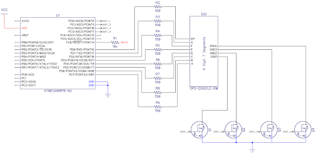 Connecting a 7-segment display to a microcontroller