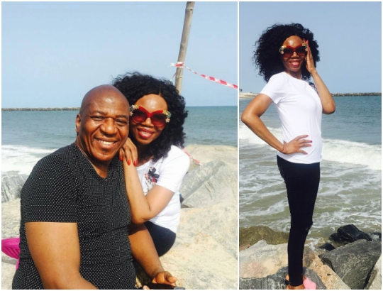 Betty Irabor shares beautiful beach photo with her husband
