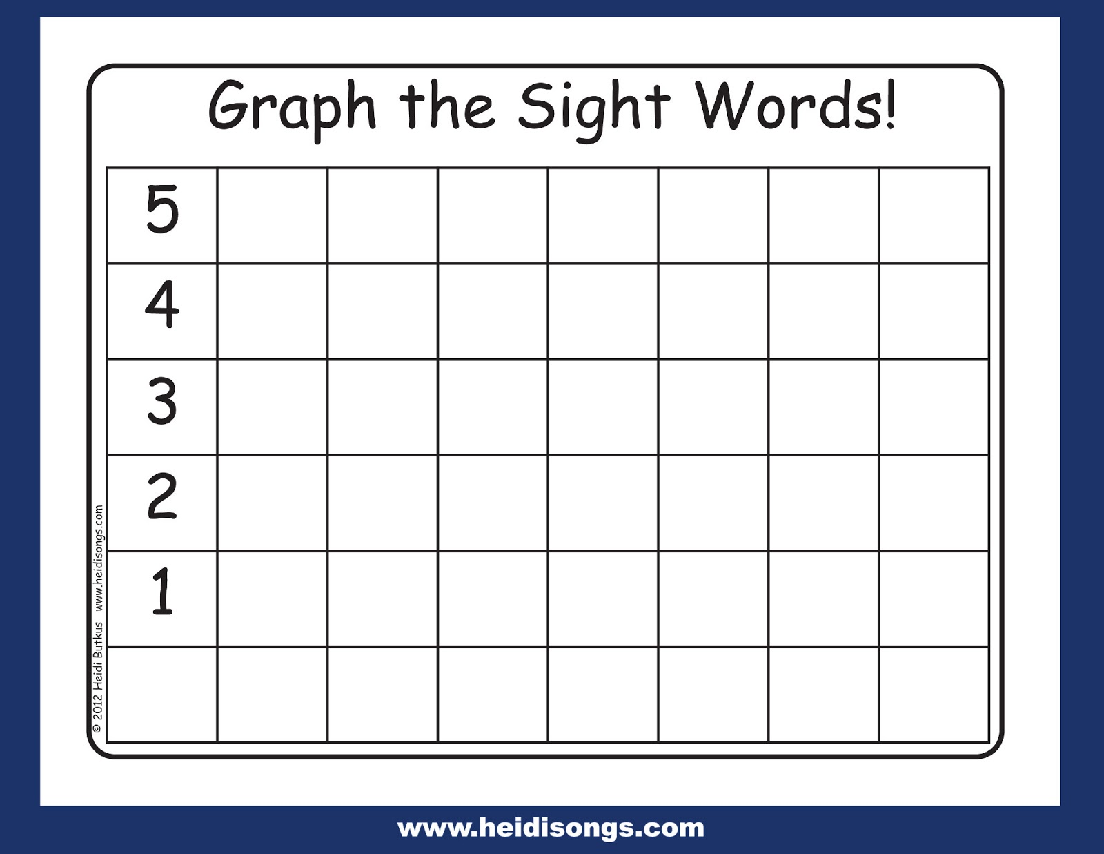 Sight Word Worksheet New 207 Sight Word Graphing
