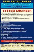 System engineer job