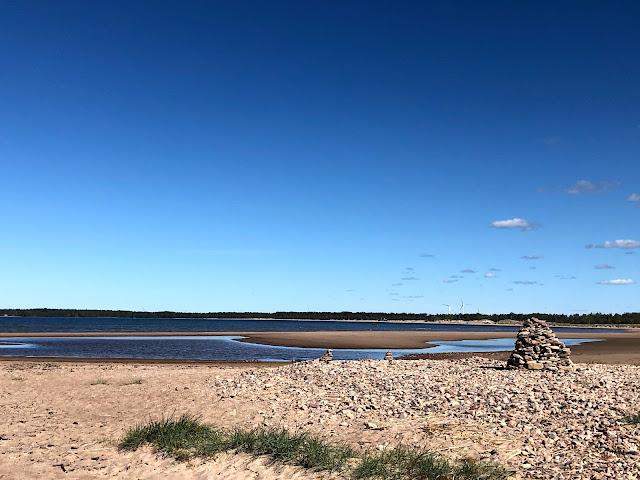 Yyteri, pori, uimaranta, kivikko, meri, merivesi, kesä, kesäloma, taivas, pilvet, sininen taivas, hiekkaranta