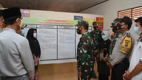 Kunjungi Inhu, Pangdam I/BB Ingatkan Masyarakat Harus Taat Prokes dan Pelaksanaan PPKM Mikro