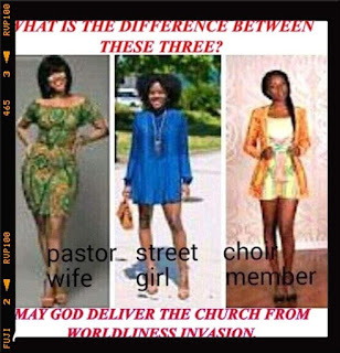 pastor wife in worldly dressing