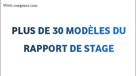 Plus de 30  Exemples de Rapport du Stage