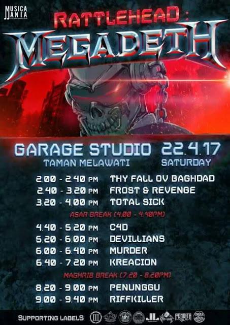 rattlehead megadeth underground gig 22 april