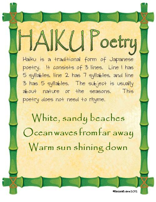It's About Time, Teachers!: Haiku Poetry Freebie