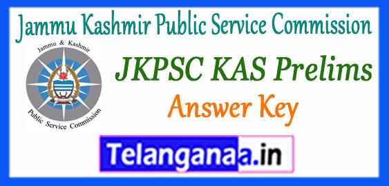 JKPSC KAS Jammu Kashmir Public Service Commission Answer Key 2018 Cut Off Result