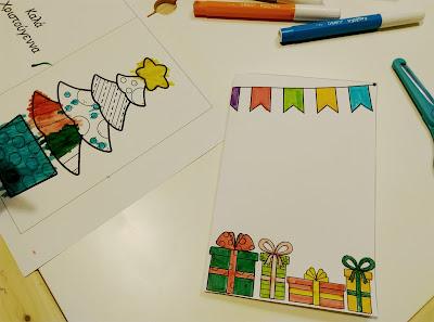 Blogmas day 11, DIY Χριστουγεννιάτικες κάρτες,