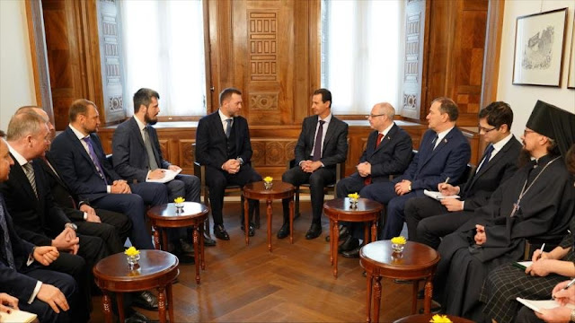 Al-Asad resalta lazos con Rusia ante guerra lanzada por Occidente