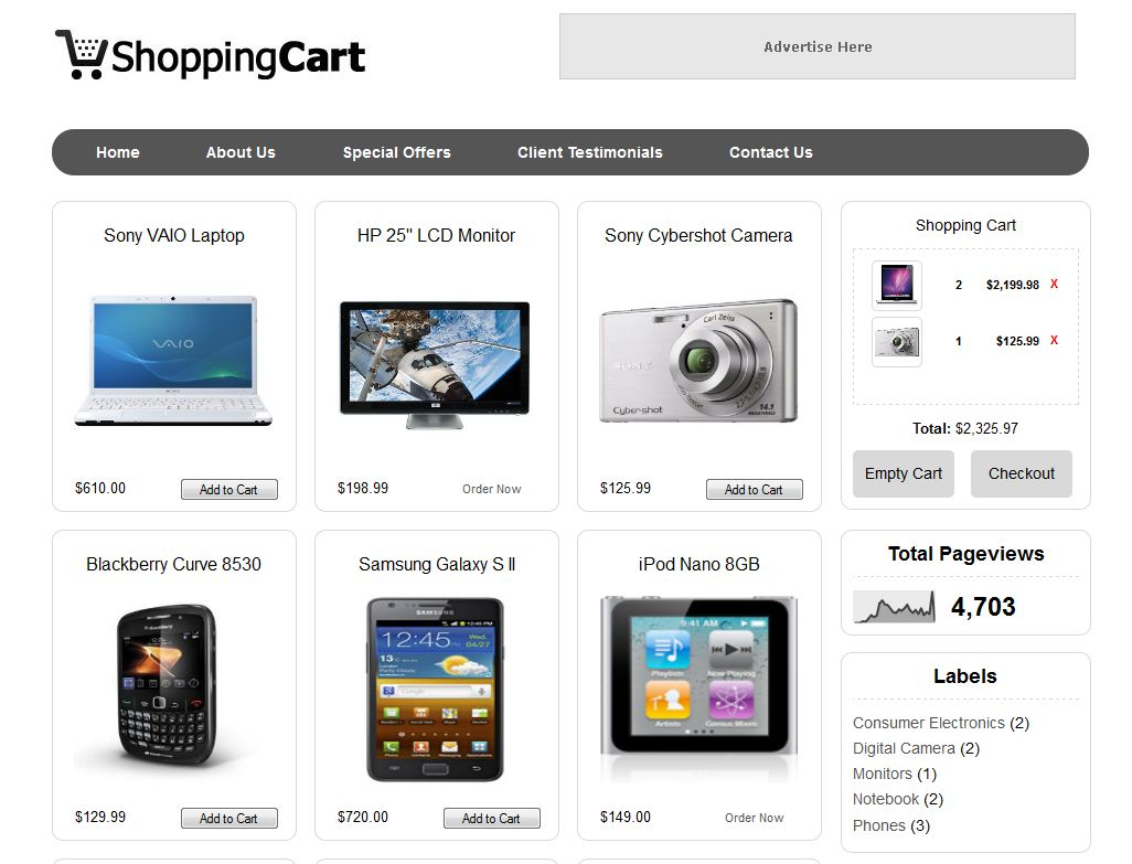 shopping cart template for blogger - shopping cart blogger template