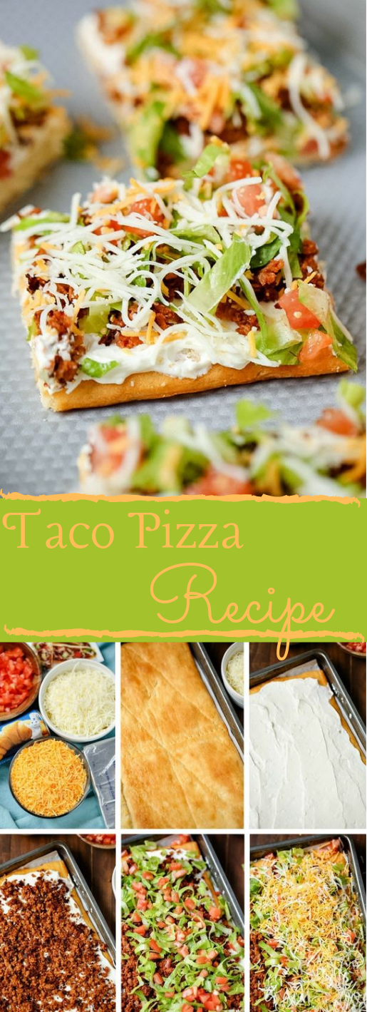 The Best Easy Taco Pizza Recipe #recipe #pizza #food #sandwich #easy