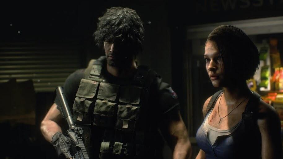 Jill Valentine Carlos Oliveira Resident Evil 3 Remake 4k Wallpaper