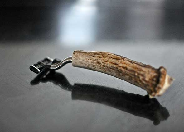 maquinilla afeitar, mango de tronco, diys, bricolaje, hombres, manualidades