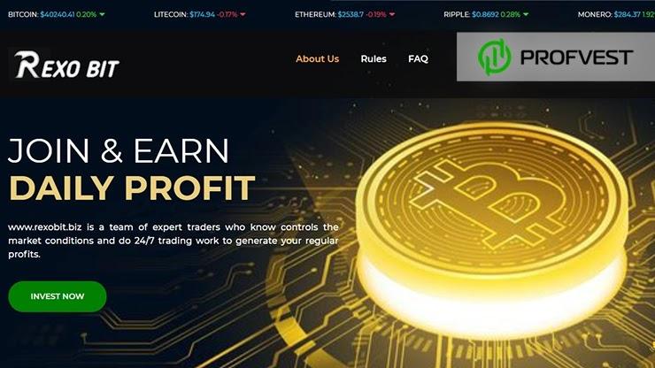 Rexobit обзор и отзывы HYIP-проекта