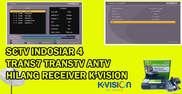 SCTV Indosiar ANTV Trans7 TransTV Hilang K Vision