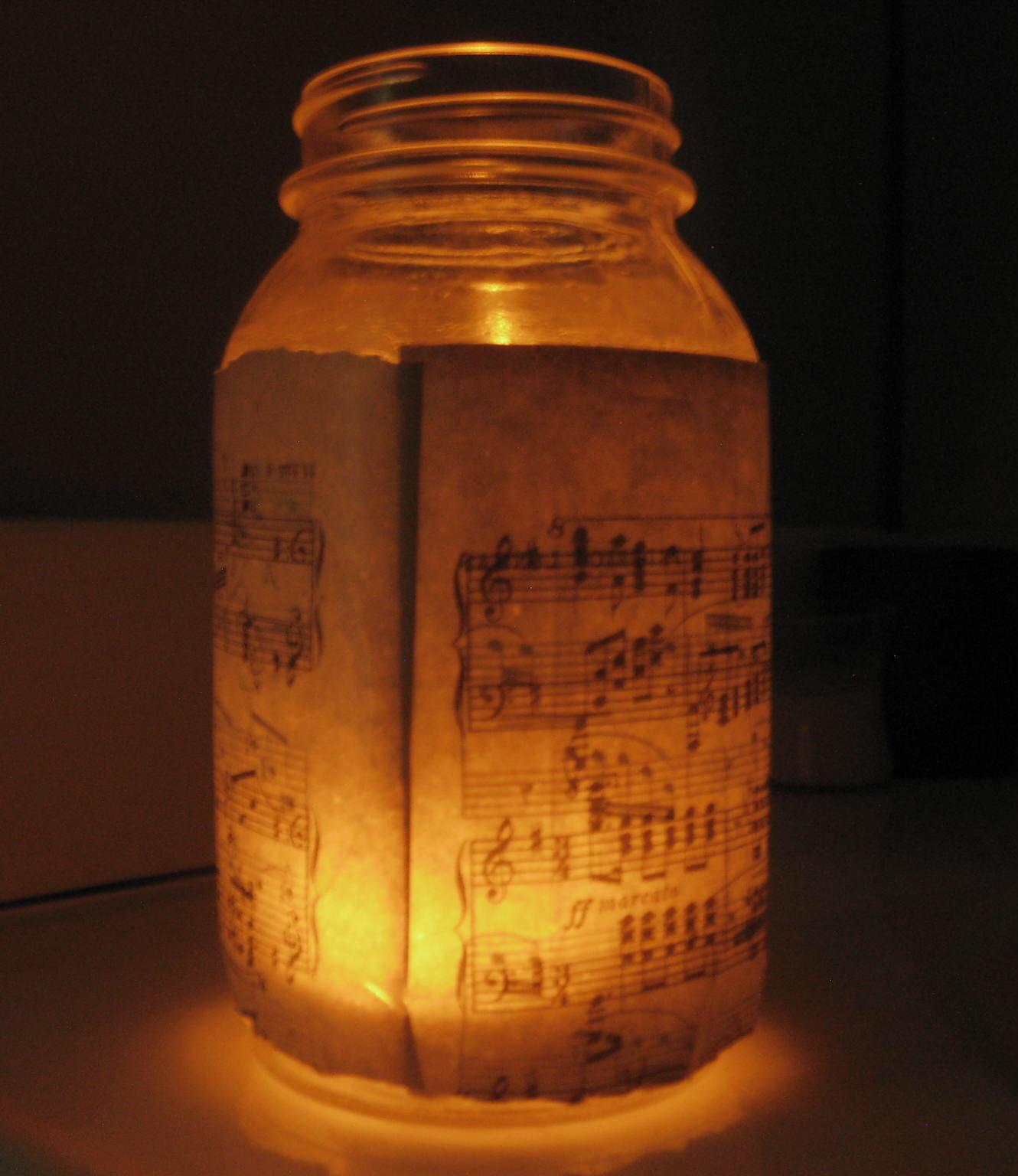Little Nostalgia: DIY: Mason Jar Candle Holder