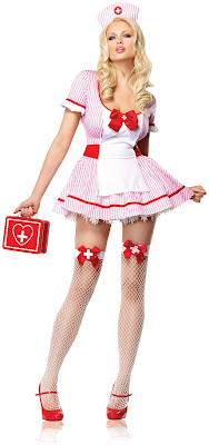 Women's Nurse Kandi Adult Costume for Halloween