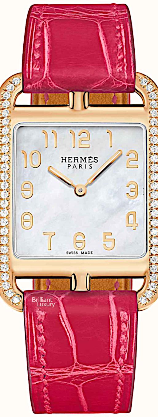 Brilliant Luxury♦Hermès Cape Cod Watch #pink #jewelry