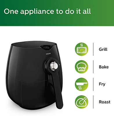 Philips Daily Collection HD9218 Air Fryer to Bake and Roast Your Favorite Dishes with up to 90% Less Fat