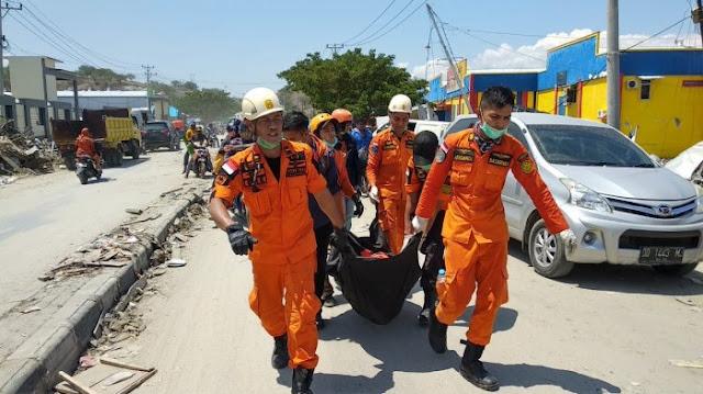 Terus Bertambah, Korban Meninggal Gempa Sulteng 1.234 Orang