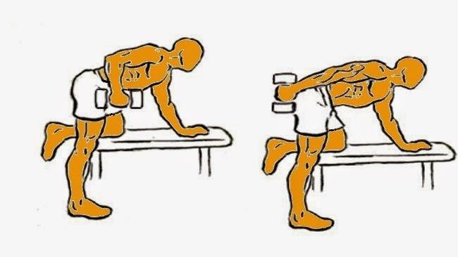 ejercicio pata de burro de tríceps