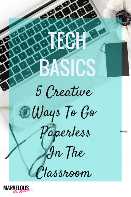 TECH BASICS: 5 CREATIVE IDEAS TO GO PAPERLESS IN THE CLASSROOM
