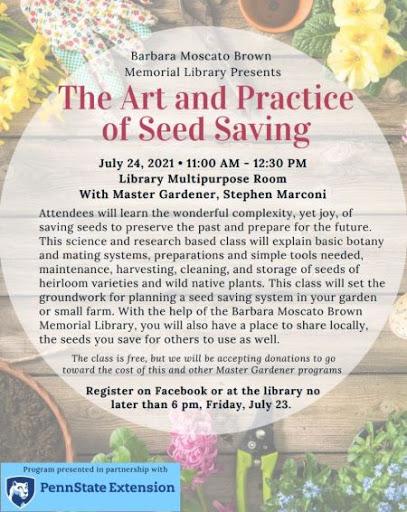 7-24 Barbara Mascato Library Seed Saving