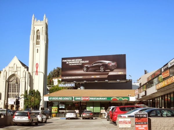 2014 Corvette Stingray billboard