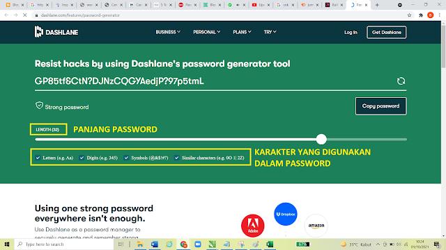 Cara Membuat Password Yang Aman dan Kuat Dengan Password Generator