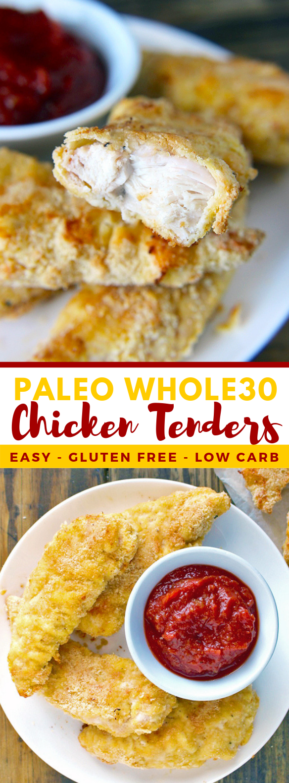 PALEO WHOLE30 CHICKEN TENDERS #diet #lowcarb