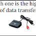 Which one is the highest rate of data transfer