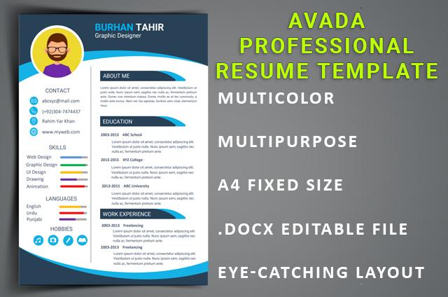 Avada Professional ResumeTemplate